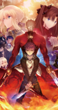 Fate/stay night,Fate/stay night Unlimited Blade Works【アーチャー,イリヤスフィール・フォン・アインツベルン,バーサーカー,キャスター,衛宮士郎,ギルガメッシュ,セイバー,遠坂凛】iPhone8 PLUS(1080 x 1920) #127614